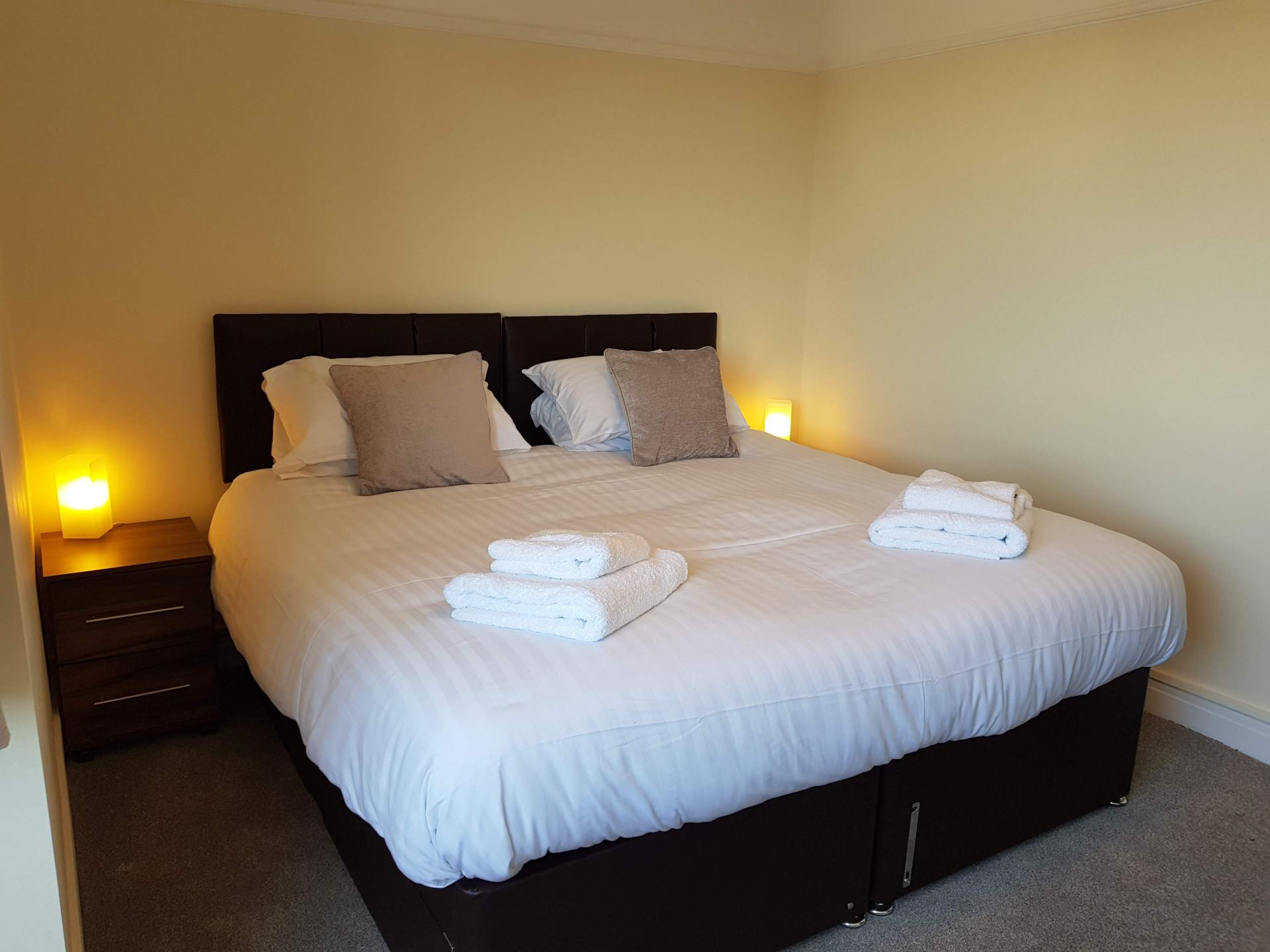 Cosy bedroom at Braganza House Apartments, Old Portsmouth, Portsmouth