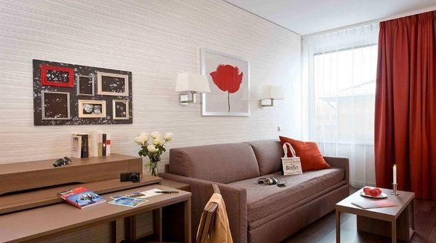 Modern living area in Adagio Berlin Kurfurstendamm