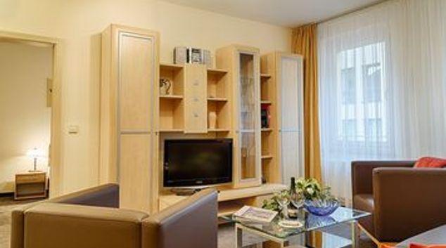 Living room at Münzgasse Apartment
