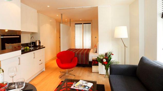 Living area in SACO Fleet Street - Crane Court