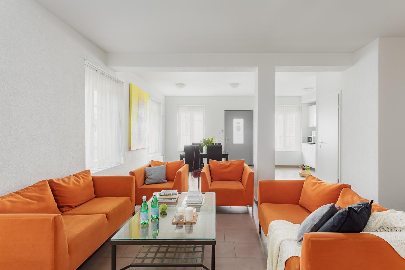 Living area at Oerlikon Lodge