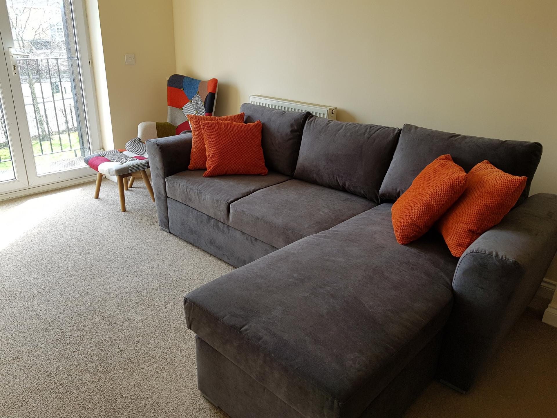 Living area at Le Tissier Court Apartment, The Polygon, Southampton