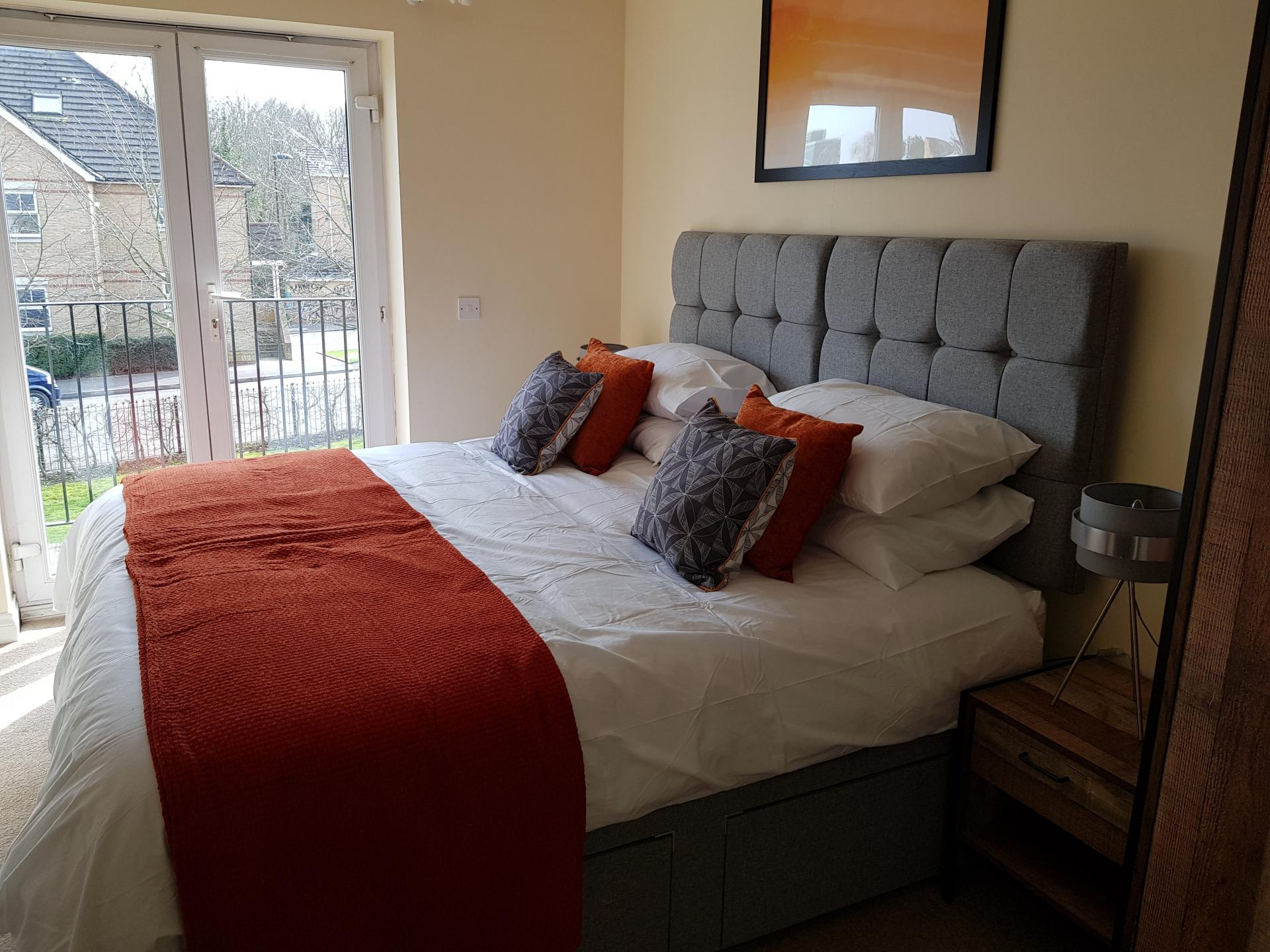 Bedroom at Le Tissier Court Apartment, The Polygon, Southampton