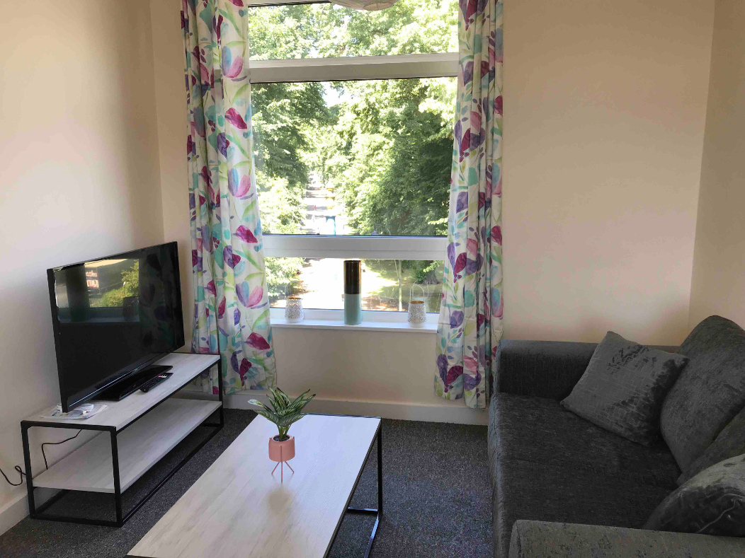 Living area at Hanover Building Apartments, Centre, Southampton