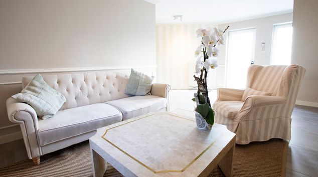 Living area at Philippe Apartment