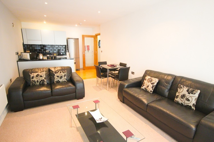 Living room at Quayside Loft Apartments