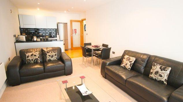 Living room at Quayside Loft Apartments