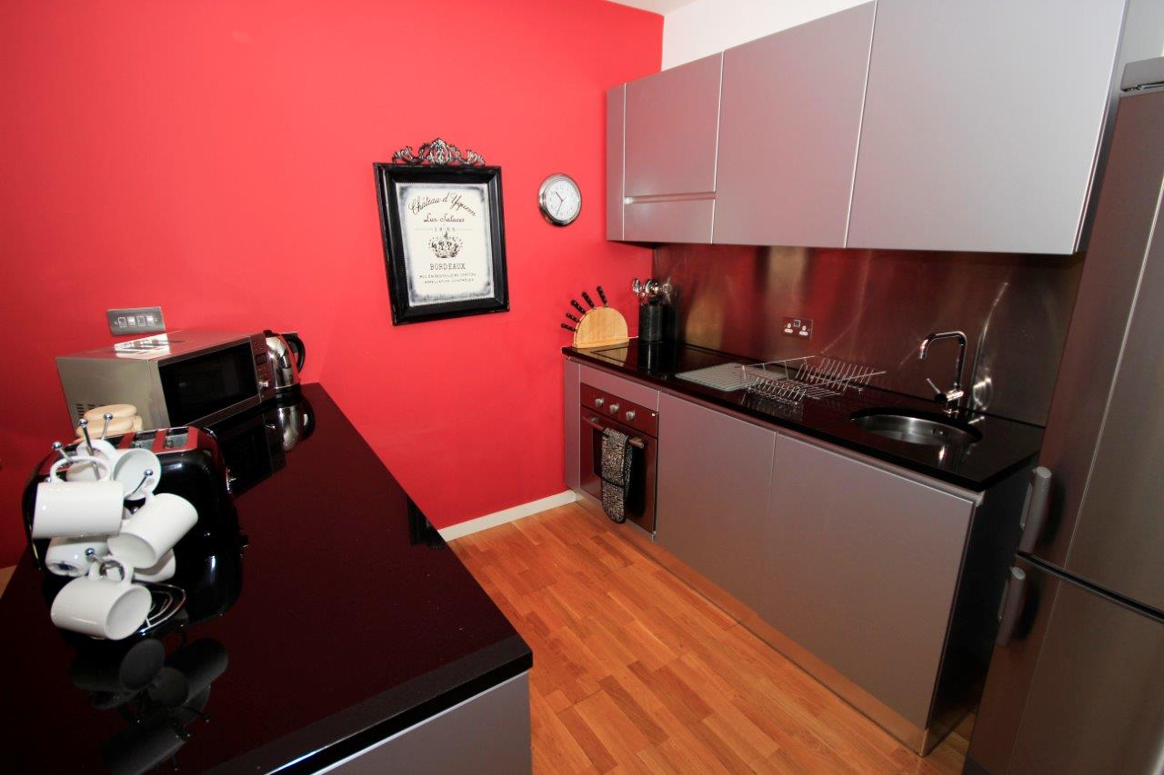 Kitchen area at Quayside Loft Apartments