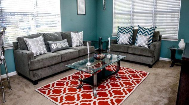 Living Room at Arlington West Apartment