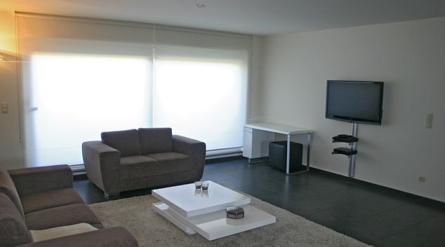 Living area at Hoek Apartment