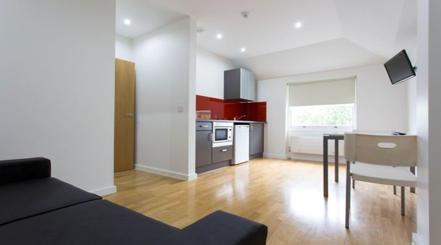 Living area at Princes Square Apartments