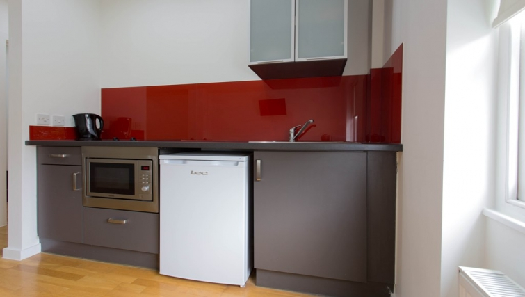 Kitchen at Princes Square Apartments