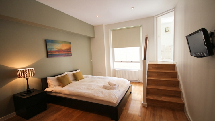Double bedroom at Princes Square Apartments
