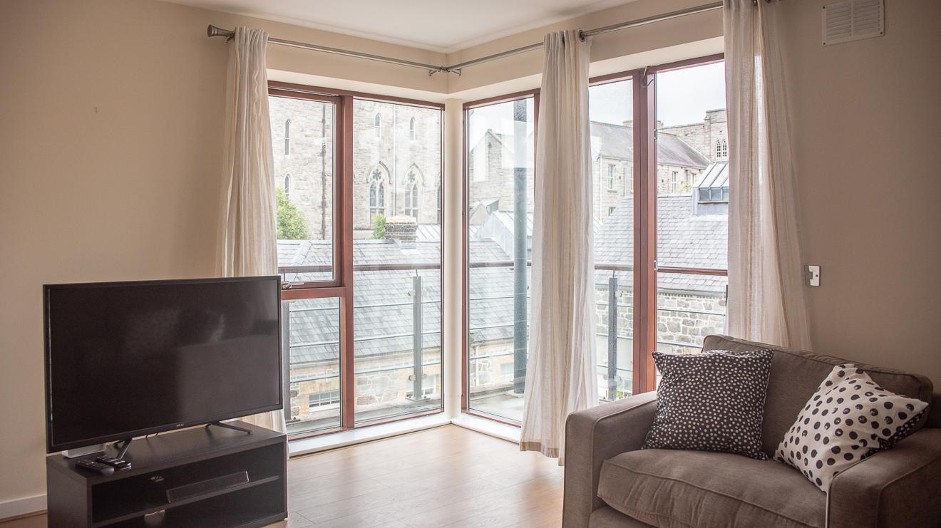 Living room at Loreto Abbey Apartments, Terenure, Dublin