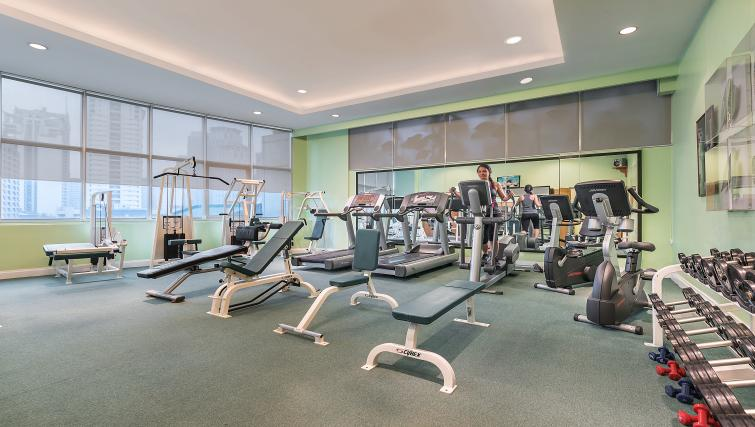 Fitness centre at Somerset Millennium Apartments