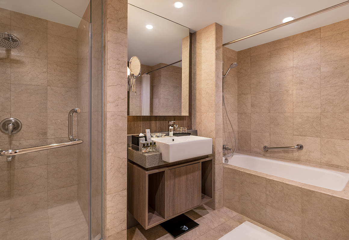 Shower and Bath at Somerset Millennium Apartments