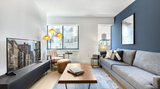 Living area at The Chelsea Apartments, Manhattan, New York