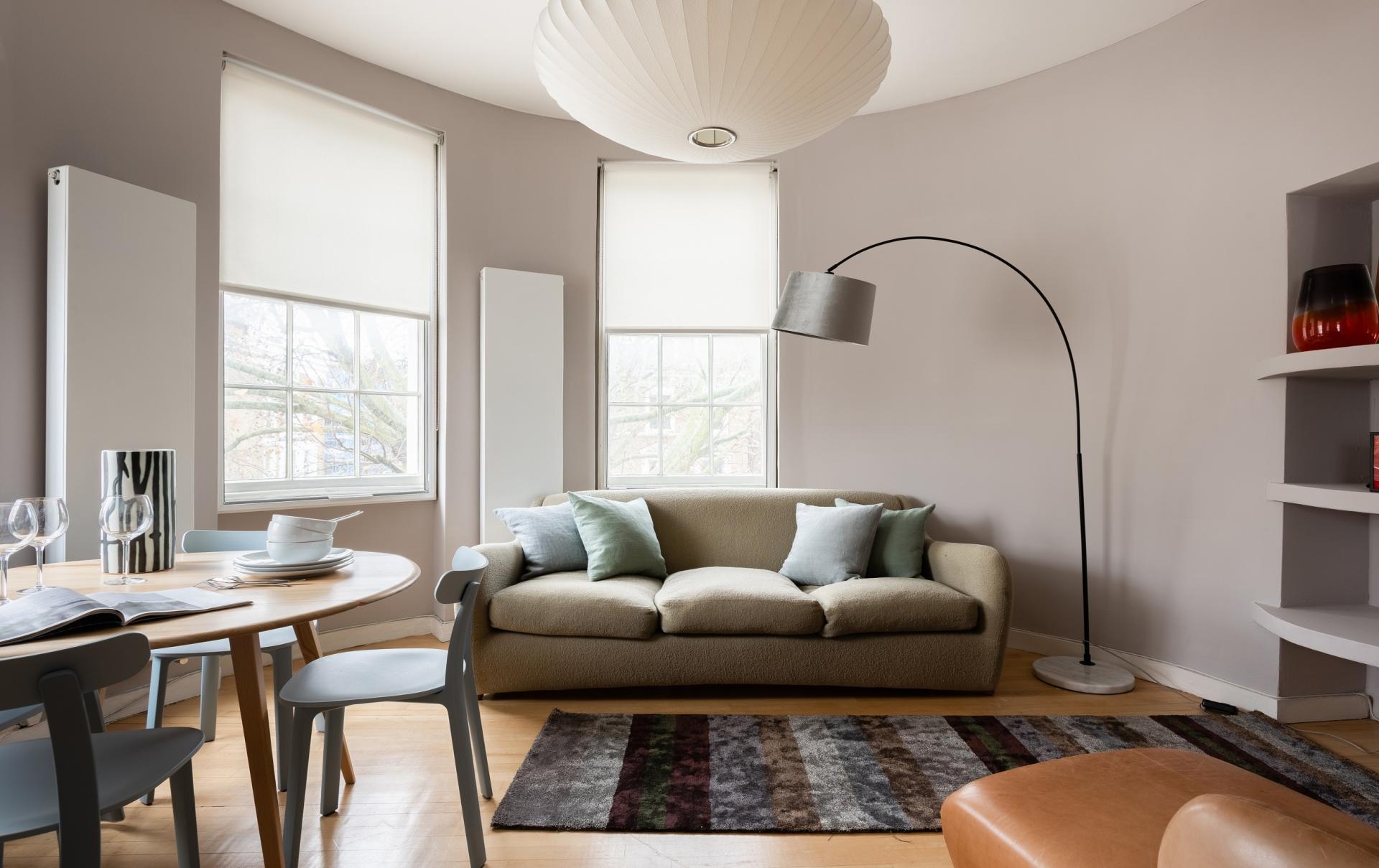 Living area at The Holland Park Escape, Holland Park, London