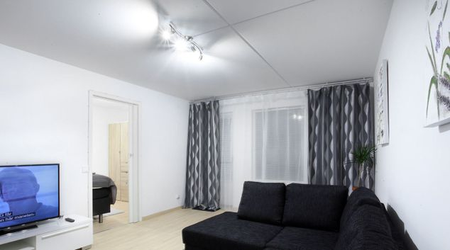 Living room at Palmgatan Apartments