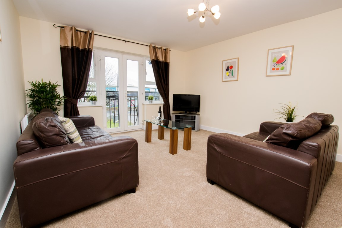 Living room at Elmcroft Court Apartments, Three Bridges, Crawley