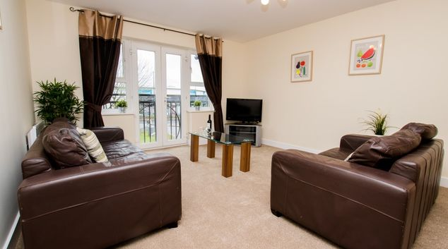 Living room at Elmcroft Court Apartments, Three Bridges, Crawley