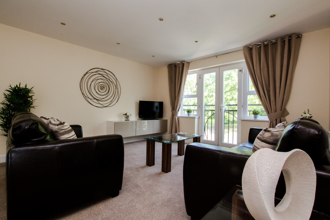 TV at Elmcroft Court Apartments, Three Bridges, Crawley
