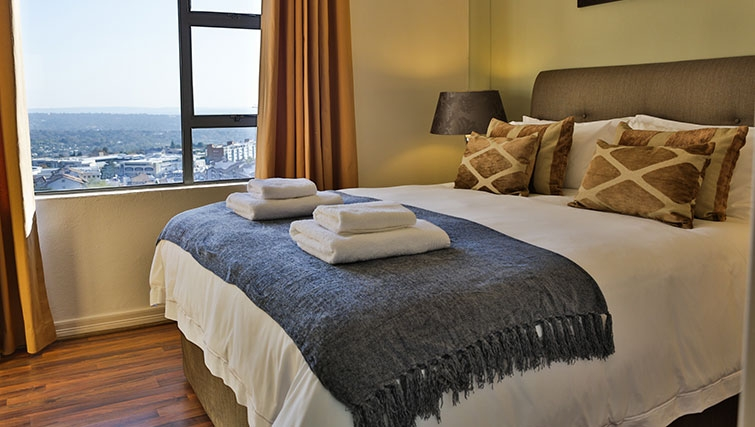Stunning bedroom at Westpoint Executive Suites