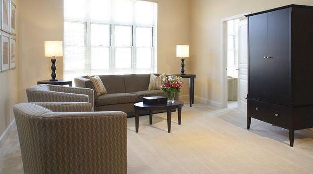 Living area at Mark at Dulles Apartment, Herndon, Washington DC