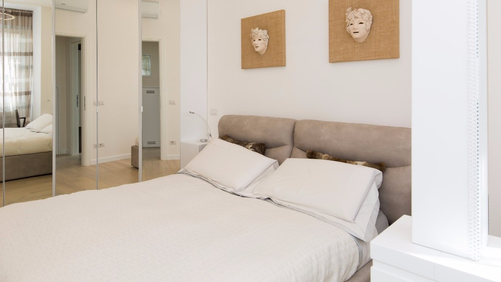 Bed at South Aria Apartment, Eur, Rome