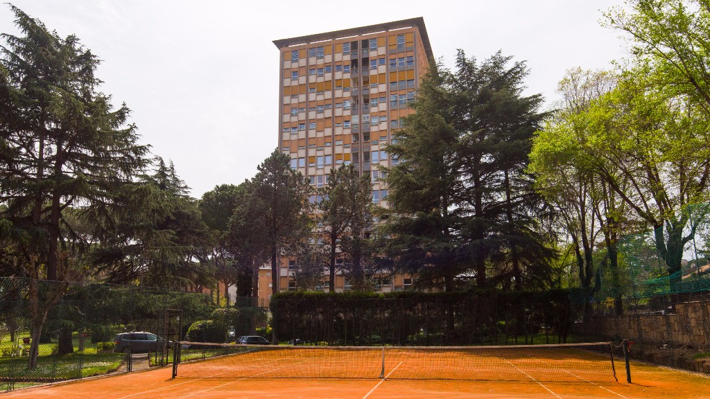 Tennis court at South Aria Apartment, Eur, Rome
