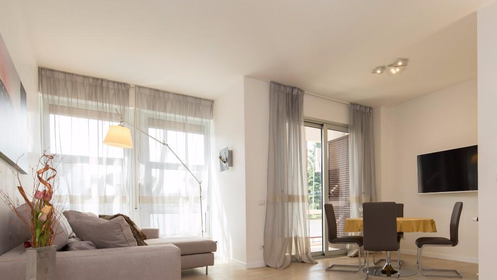 Living area at South Aria Apartment, Eur, Rome