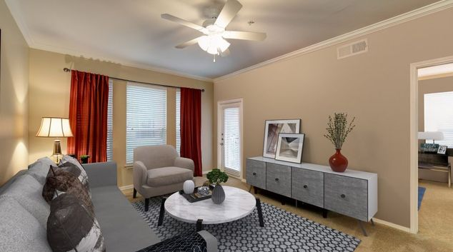 Living area at Camden Centreport Apartment, Euless, Dallas