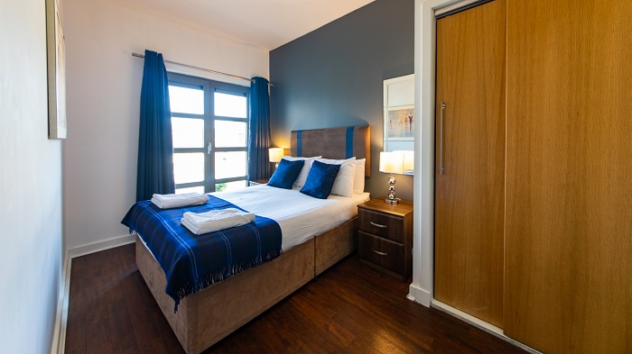 Double bed at The Spires Glasgow