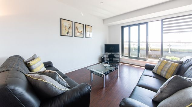 Living room at The Spires Glasgow