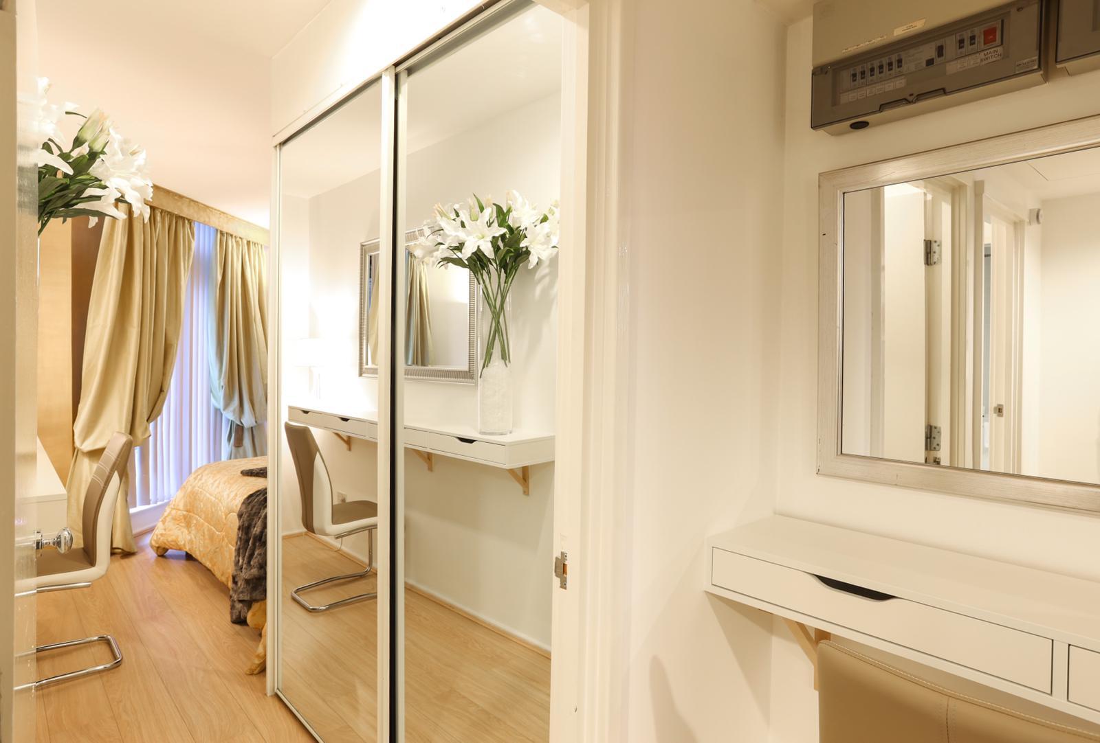 Mirror at 116 Point West Apartments, South Kensington, London