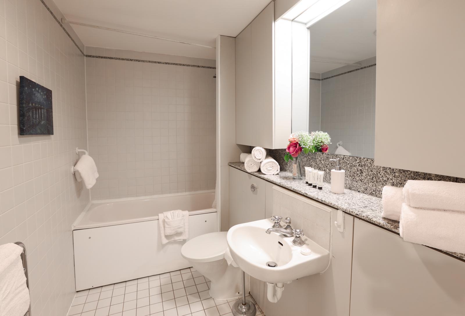 Bath at 116 Point West Apartments, South Kensington, London