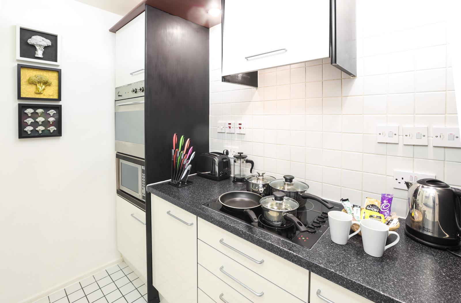 Kitchen at 116 Point West Apartments, South Kensington, London