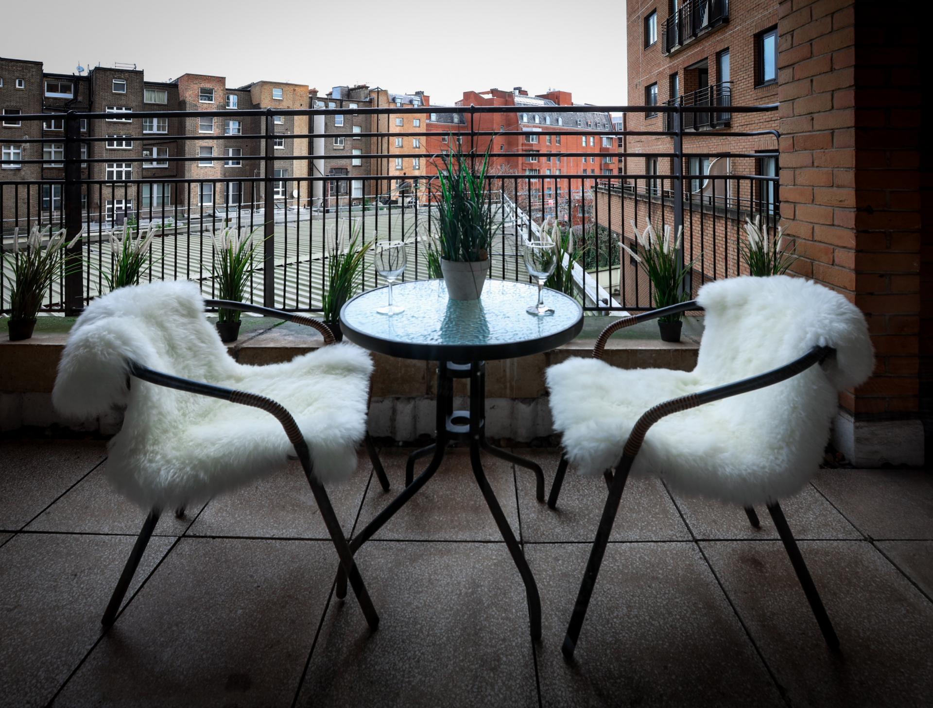 Balcony at 116 Point West Apartments, South Kensington, London