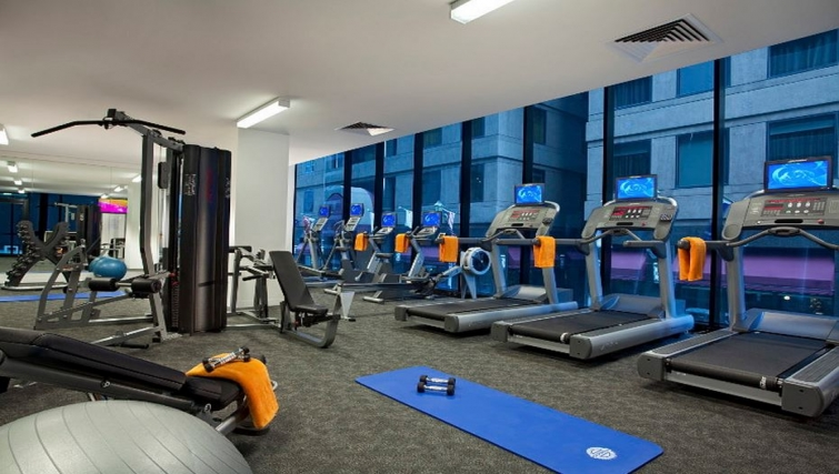 Well equipped gym in Citadines Bourke Apartments