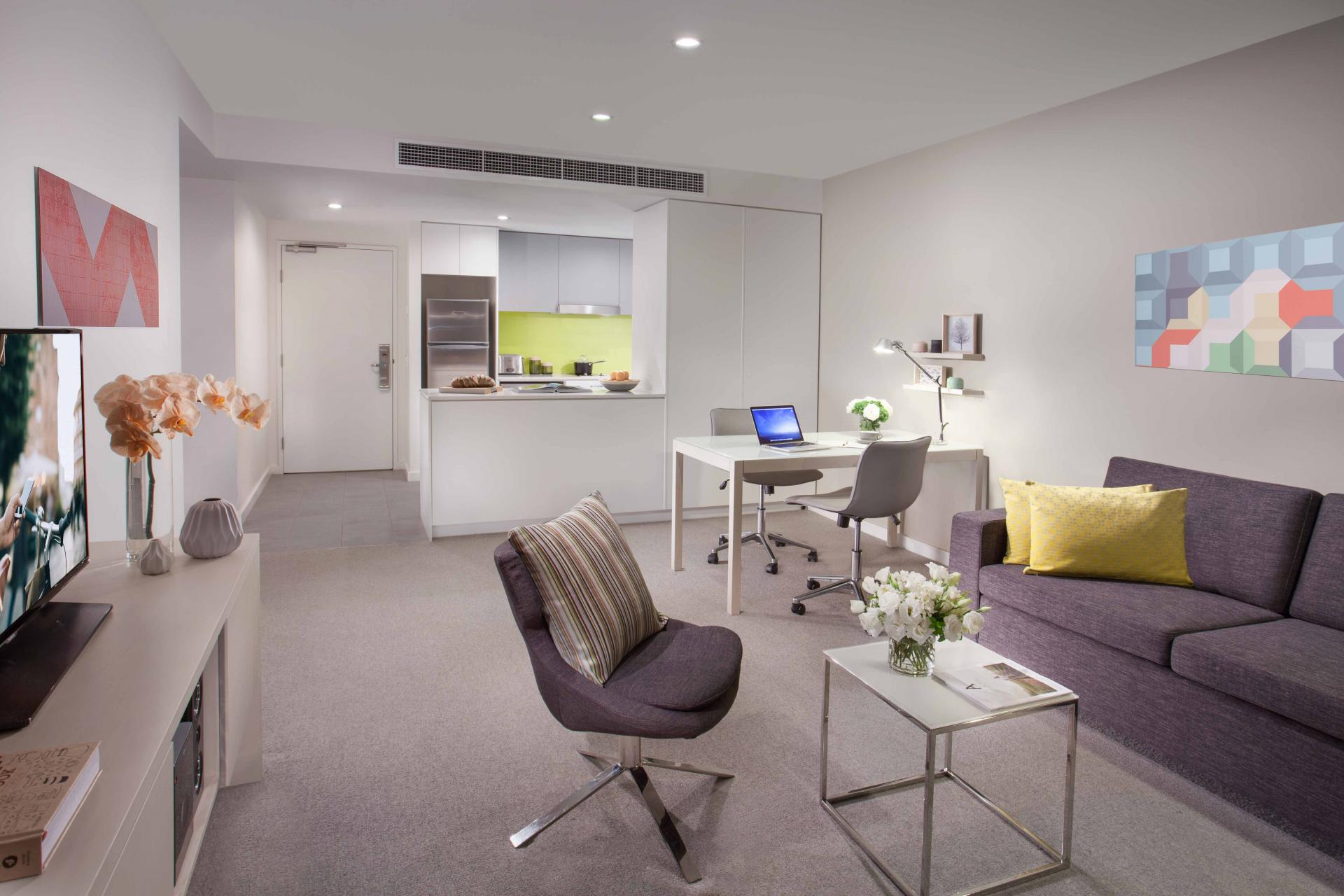 Lounge at Citadines Bourke Apartments