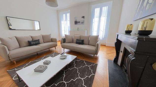Living area at Beau-Sejour Apartment, Centre, Lausanne