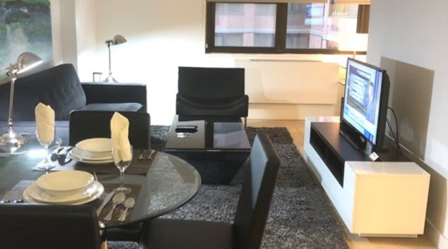 Living area at The Nash Corporate Housing, Manhattan, New York