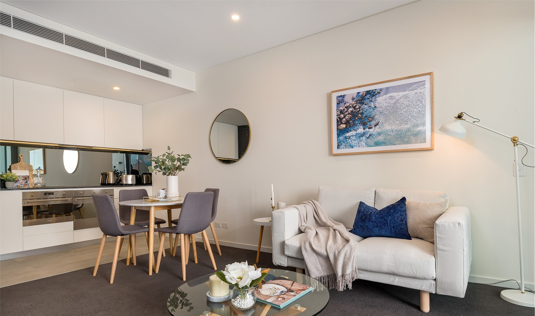 Living room at Riverside Parade Apartments by Fraser, Centre, Perth