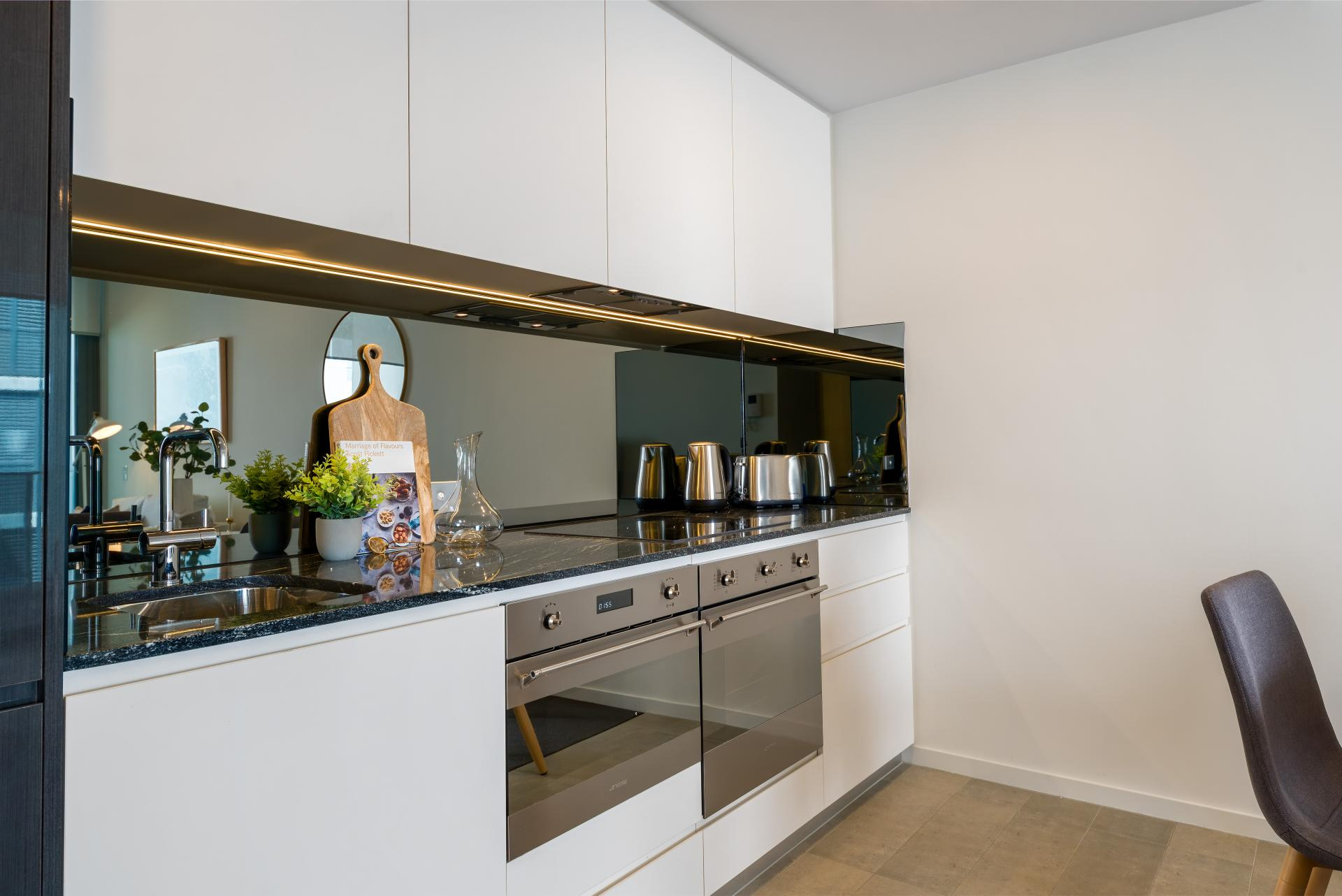Kitchen at Riverside Parade Apartments by Fraser, Centre, Perth