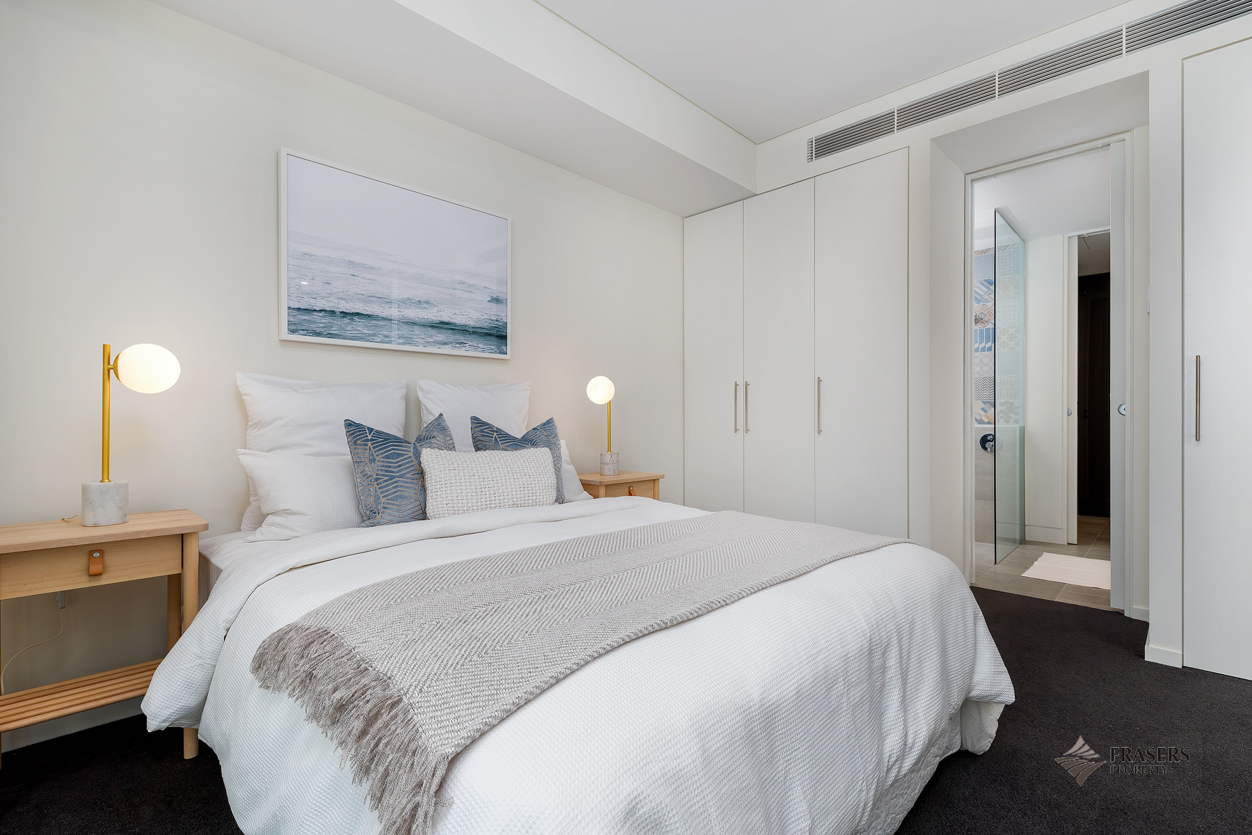 Bedroom at Riverside Parade Apartments by Fraser, Centre, Perth