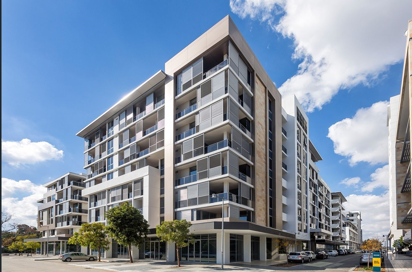 Exterior at Riverside Parade Apartments by Fraser, Centre, Perth