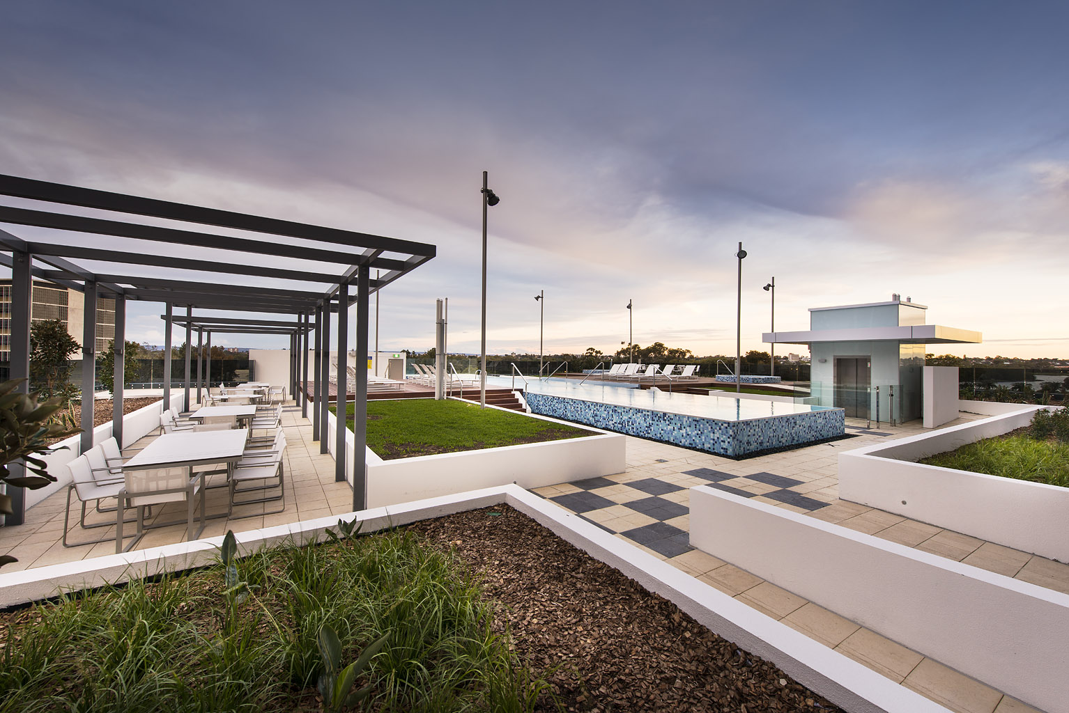 Rooftop at Riverside Parade Apartments by Fraser, Centre, Perth