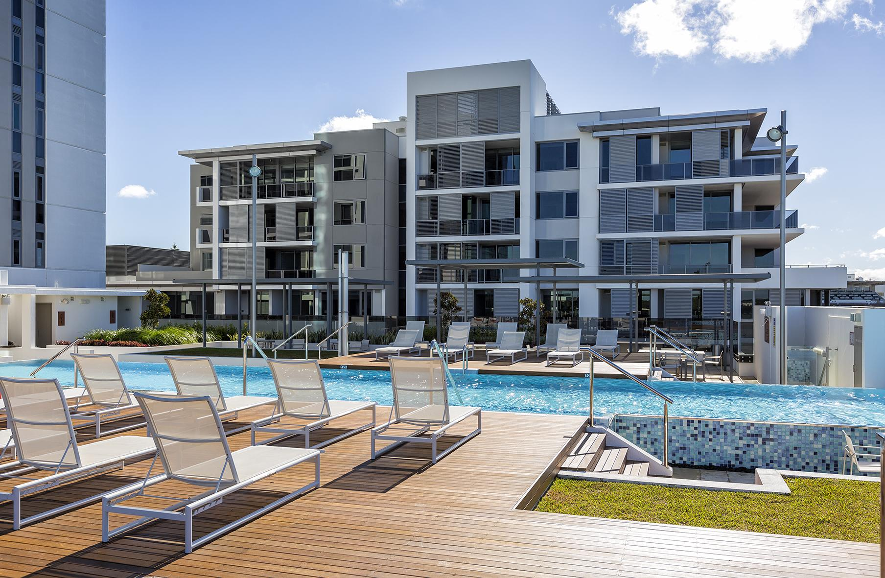 Pool at Riverside Parade Apartments by Fraser, Centre, Perth