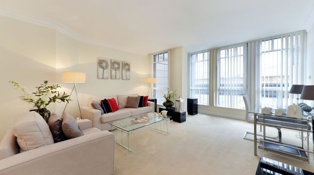 Stunning living area in St Johns Westminster Apartments