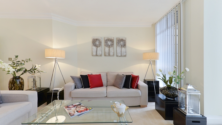 Trendy living area in St Johns Westminster Apartments